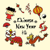 Chinese New Year decorative elements Royalty Free Stock Photo