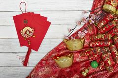 Chinese new year's decoration for Spring festival. Chinese New Year decorative items used in the belief that the good luck and wealth Royalty Free Stock Photo