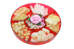 Chinese New Year Delicacies Stock Images