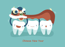 Chinese New Year Of Dental Stock Photo