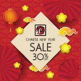 Chinese new year design background. Chinese New Year sale design. Template stock illustration