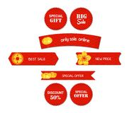 Chinese new year design elements. Chinese tags for sale Royalty Free Stock Photo