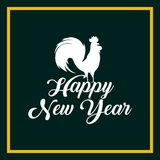 Chinese new year design. Happy new year card. chinese year of rooster. colorful design.  illustration Royalty Free Stock Photography