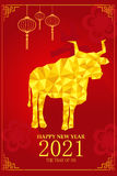 Chinese New Year design for Year of ox Stock Images