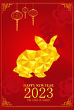 Chinese New Year design for Year of rabbit Stock Photo