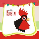 Chinese New Year design - Year of rooster Stock Image