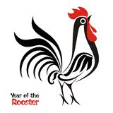 Chinese New Year design - Year of rooster Royalty Free Stock Photography