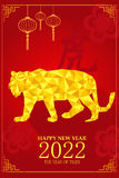 Chinese New Year design for Year of tiger Stock Photos
