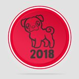2018 Chinese New Year. Year of the dog. 2018 Chinese New Year. Year of Dog logo Vector Design Royalty Free Stock Photos