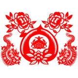 Chinese New Year Dragon. Traditional paper cut of a dragon Stock Images