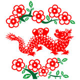 Chinese New Year Dragon. Traditional paper cut of a dragon Royalty Free Stock Photos