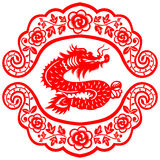 Chinese New Year Dragon. Traditional paper cut of a dragon Stock Photo