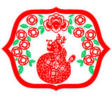 Chinese New Year Dragon. Traditional paper cut of a dragon Royalty Free Stock Photography