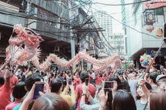 Chinese New Year. Dragon Dance, Binondo Version Stock Photo