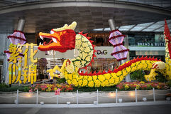Chinese New Year Dragon Decoration Royalty Free Stock Photos
