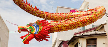 Chinese New Year Dragon Decoration in Chinatown Royalty Free Stock Image