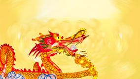 Chinese new year dragon with lanterns royalty free stock photography