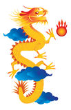 Chinese New Year Dragon Vector Illustration Stock Photography