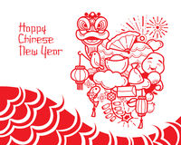 Chinese New Year Drawing. Traditional Celebration China Happy Chinese New Year Stock Images