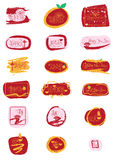 Chinese New Year English golden glitter sign set Stock Images