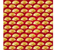 The Chinese new year fan  background Royalty Free Stock Images