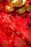 Chinese new year festival background. Chinese new year festival decorations in red with blank copy space background