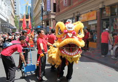 Chinese new year. Festival in China town Melbourne Australia