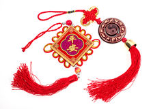 Chinese new year festival decorations on white Royalty Free Stock Photos