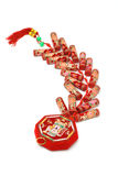 Chinese new year fire crackers Stock Image