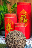 Chinese New Year firecracker decorations Royalty Free Stock Photography