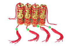 Chinese New Year Firecrackers Stock Photo