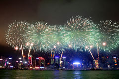 Hong Kong : Chinese New Year Fireworks 2013 Royalty Free Stock Images