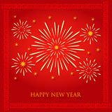 Chinese new year fireworks background Stock Photos