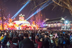 Chinese New Year first night in The Confucius Temple Scenic Area royalty free stock images