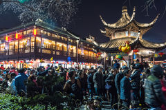 Chinese New Year first night in The Confucius Temple Scenic Area royalty free stock photos