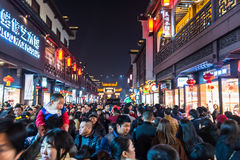 Chinese New Year first night shopping stock images