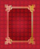Chinese New Year Frame. 2017 Vector of abstract Chinese New Year graphic elements and red background with oriental ornament and black frame. Asian traditional Royalty Free Stock Photo