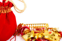 Chinese New Year Gift Bag and decoration Royalty Free Stock Image