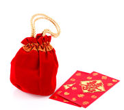 Chinese New Year Gift Bag and decoration Royalty Free Stock Photo