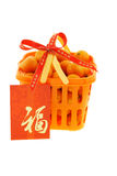 Chinese new year gift basket Stock Images