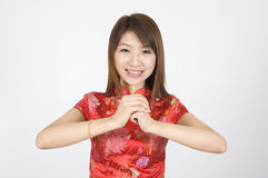 Chinese new year girl Stock Photo