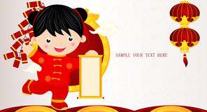 Chinese new year girl Royalty Free Stock Photography