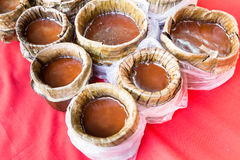 Chinese New Year glutinous rice cake, known as Nian Gao. Being prepared Royalty Free Stock Image