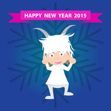 Chinese New Year of the Goat 2015, happy new year.  Stock Photo
