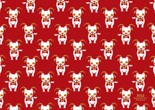Chinese New Year of the Goat 2015 pattern. Chinese New Year of the Goat 2015, vector pattern Illustration, freehand drawing Royalty Free Stock Photos