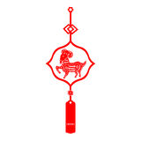 Chinese New Year Goat. Traditional paper cut of a Goat Royalty Free Illustration