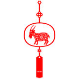 Chinese New Year Goat. Traditional paper cut of a Goat Stock Photography