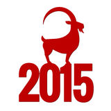 Chinese New Year of the Goat 2015. Vector illustration Royalty Free Stock Image