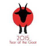 Chinese New Year of the Goat 2015. Stock Images