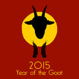 Chinese New Year of the Goat 2015. Stock Image